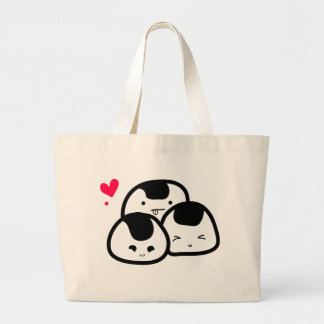 amigos del onigiri bolsa lienzo