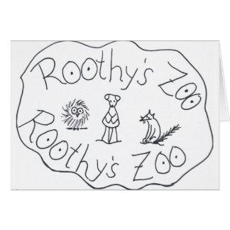 AMIGOS del PARQUE ZOOLÓGICO TRES de ROOTHY de Ruth Tarjeta De Felicitación
