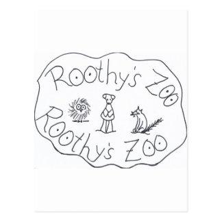 AMIGOS del PARQUE ZOOLÓGICO TRES de ROOTHY de Ruth Tarjetas Postales