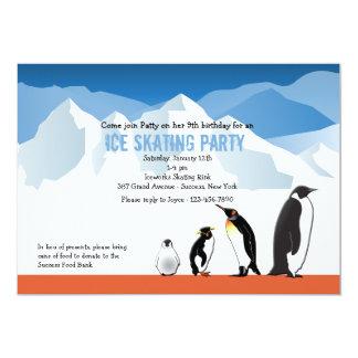 Amigos del pingüino invitación 12,7 x 17,8 cm
