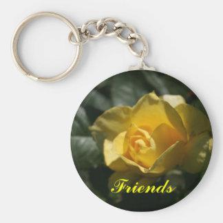 Amigos del rosa amarillo llaveros