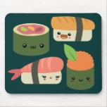 Amigos del sushi alfombrillas de ratón