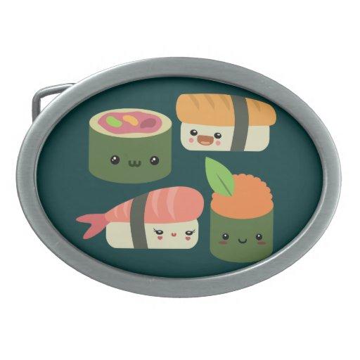 Amigos del sushi hebilla cinturón oval