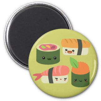 Amigos del sushi imán redondo 5 cm