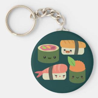 Amigos del sushi llavero redondo tipo pin