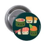 Amigos del sushi pin redondo de 2 pulgadas
