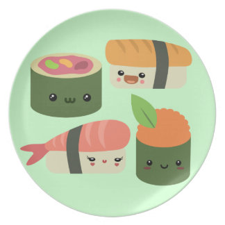 Amigos del sushi plato de comida