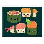Amigos del sushi tarjetas postales