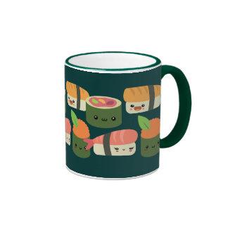 Amigos del sushi taza de café