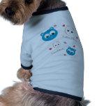 amigos del tatuaje azules ropa de perros