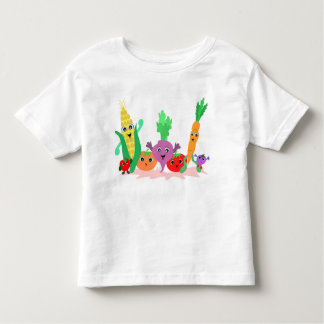 Amigos del Veggie para la camiseta de Todlers Playeras