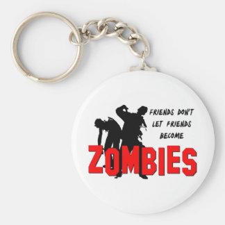 Amigos del zombi llavero redondo tipo pin