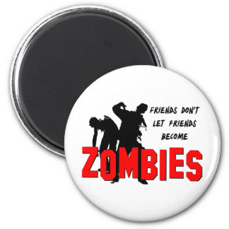Amigos del zombi imán para frigorifico