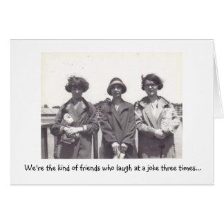 Amigos divertidos tarjeta de felicitación