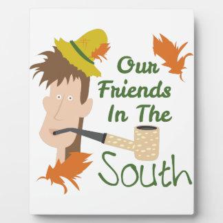 Amigos en el sur placas para mostrar