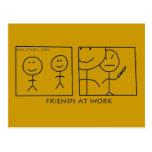 Amigos en el trabajo postal
