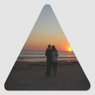 Amigos en la playa colcomanias trianguladas personalizadas