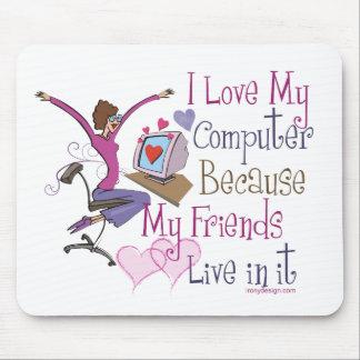 Amigos en línea Mousepads Alfombrillas De Ratones