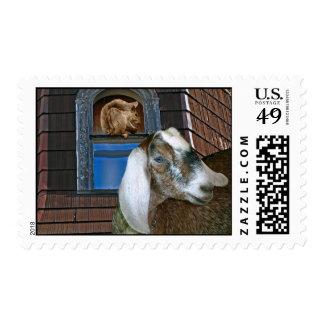 Amigos fantasía linda de la cabra del Victorian y Sello