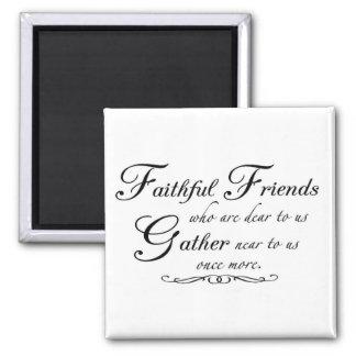 Amigos fieles 1 imán de frigorífico