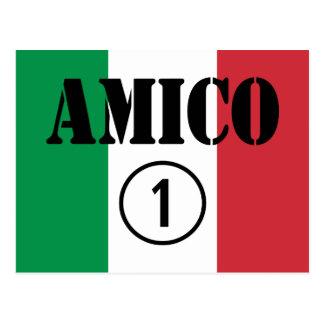 Amigos italianos: Uno de Amico Numero Tarjeta Postal