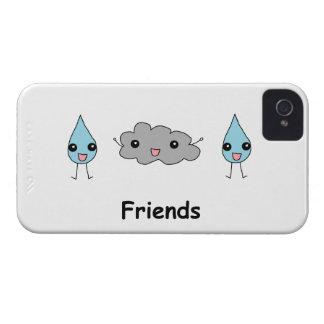 Amigos lindos de la nube y de la gota de agua Case-Mate iPhone 4 coberturas