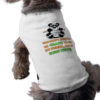 Amigos locos playera sin mangas para perro