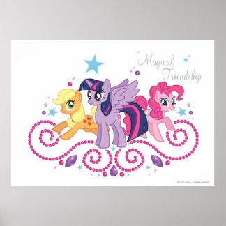 Amigos mágicos adaptables póster
