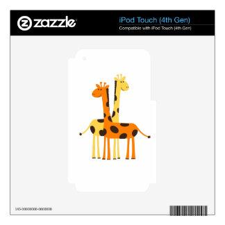 Amigos manchados de la jirafa iPod touch 4G calcomanías