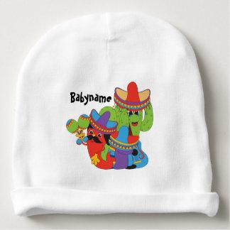 Amigos mexicanos de la fiesta personalizados gorrito para bebe