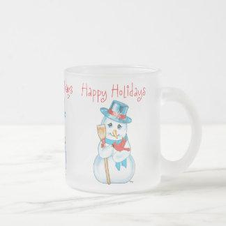 Amigos muñeco de nieve y cardenal adorables del in tazas