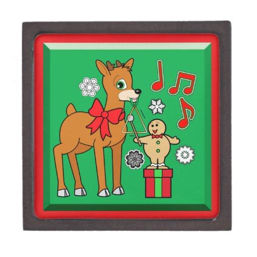 Amigos, música: &Reindeer del muchacho del pan de  Caja De Recuerdo De Calidad