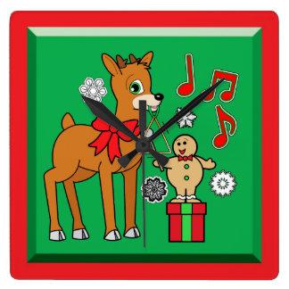 Amigos, música: &Reindeer del muchacho del pan de Reloj Cuadrado