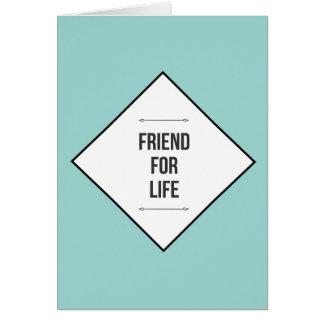 Amigos para la vida tarjeta de felicitación