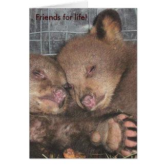 """Amigos para la vida!"" Tarjeta de nota"