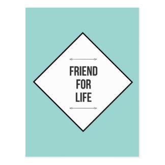 Amigos para la vida tarjetas postales