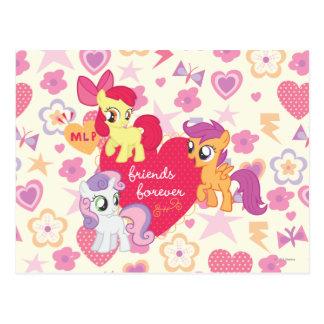 Amigos para siempre 3 tarjetas postales