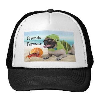 Amigos para siempre: Cangrejo + Barro amasado de Gorros Bordados