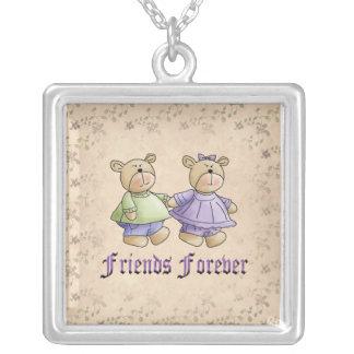Amigos para siempre colgante cuadrado