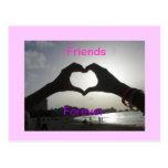 Amigos para siempre tarjeta postal