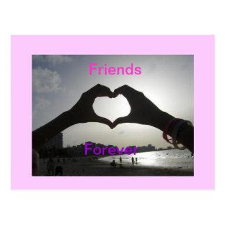 Amigos para siempre postal