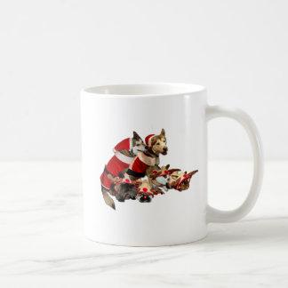 Amigos peludos del navidad tazas de café
