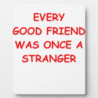 amigos placa de madera