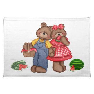 Amigos Placemat del oso del país Mantel Individual