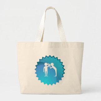 Amigos que comparten un secreto bolsa tela grande