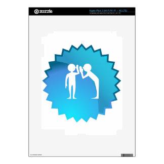Amigos que comparten un secreto iPad 3 skins