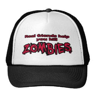 amigos reales y zombis gorro
