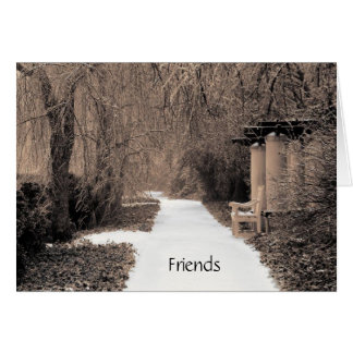 amigos tarjeta de felicitación