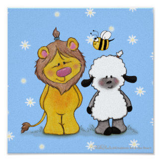 Amigos verdaderos del león y del cordero póster