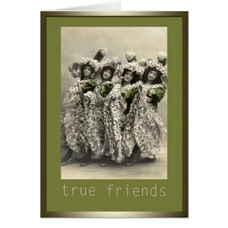 Amigos verdaderos tarjeta de felicitación